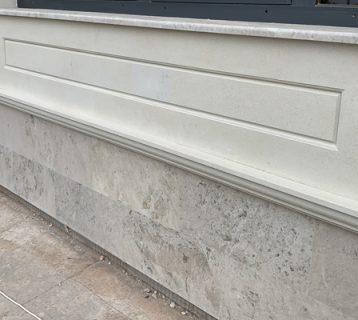 Плитка из серого доломита (лощенка) на цоколь. Размер 20х300х600 мм