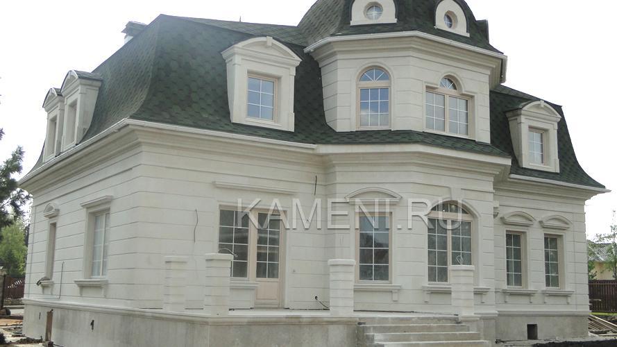 Облицовка фасада известняком