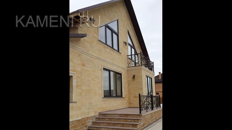 Отделка фасада натуральным камнем — цена в Москве