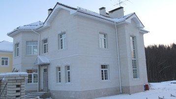 Отделка фасада известняком (1025)