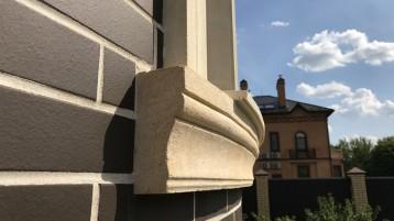 Фасад из песчаника и клинкера 0545