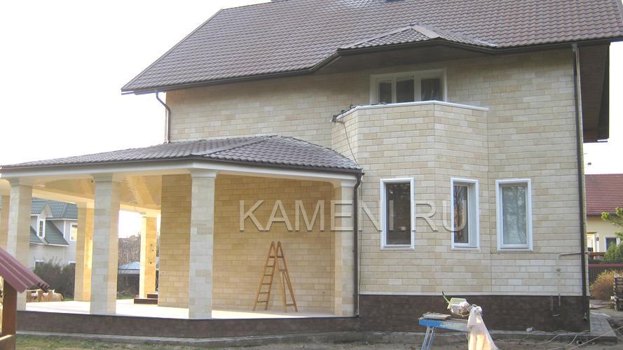 Технология облицовки фасада песчаником — 0996