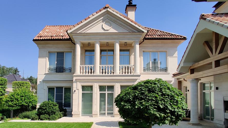 Отделка фасада дома песчаником — Фасад-песчаник 1001