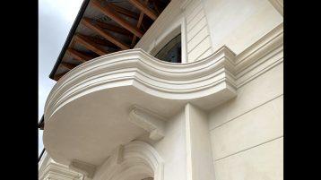 Фасад. Белый известняк 1757