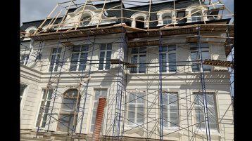 Фасад Известняк белый (холодный цвет) 8000су