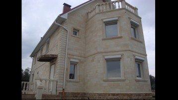 Отделка фасада дома песчаником — Фасад-песчаник 1527